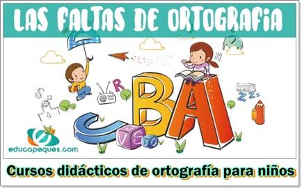 cursos didácticos de ortografía para niños