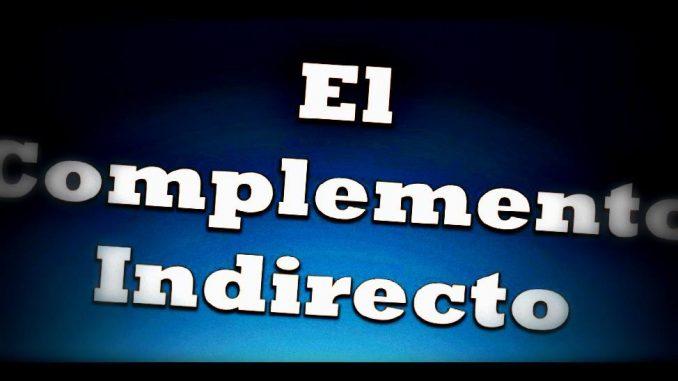 El complementos indirecto
